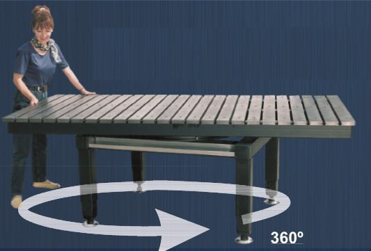 Сборочно-сварочные столы с функцией горизонтального поворота