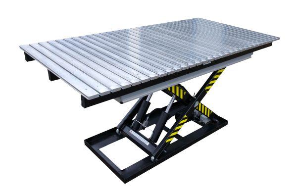 Подъемные сборочно-сварочные столы с основанием типа ножниц (стационарные)