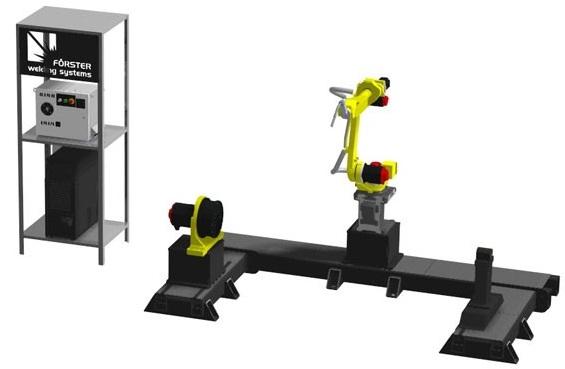 Сварочный робот с осью вращения и опорой