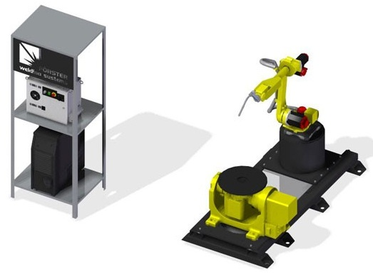 Сварочный робот с 2-х осевым позиционером